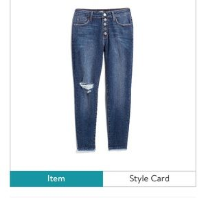 Stitch fix just black button fly skinny jeans 6P